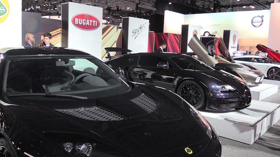 Million dollar cars at the N.Y. Auto Show