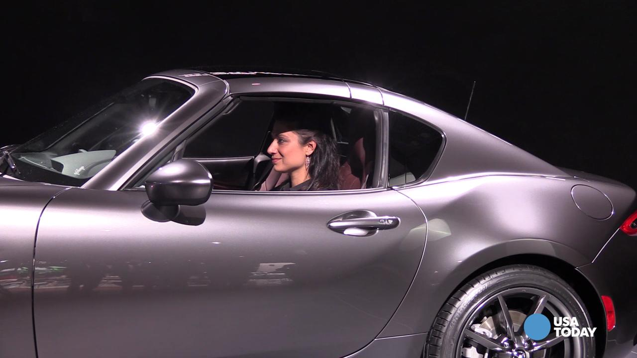 Javits Center Car Show >> Mazda's MX-5 Miata sports car goes topless in a new way