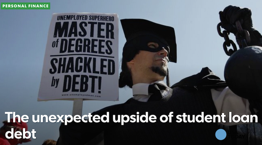 Student loan debt: readers react