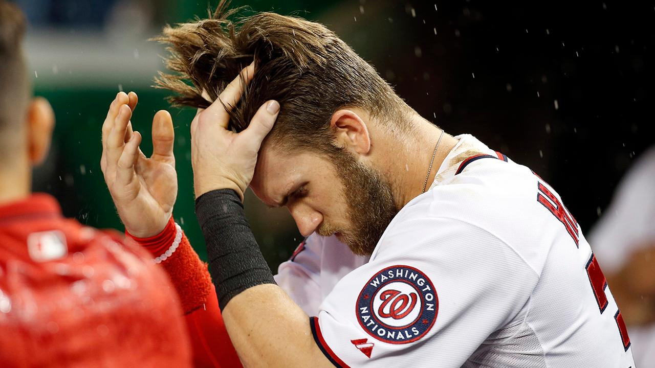 Bryce Harper Gives Haircuts To The Little Nationals