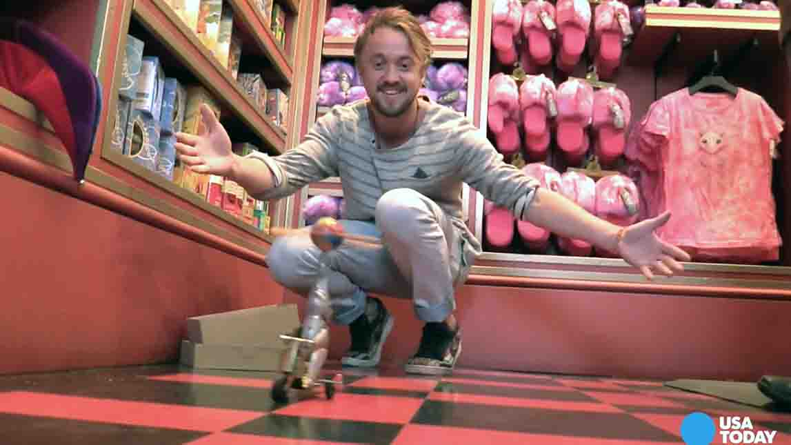 Tour the new 'Wizarding World of Harry Potter' with Tom Felton