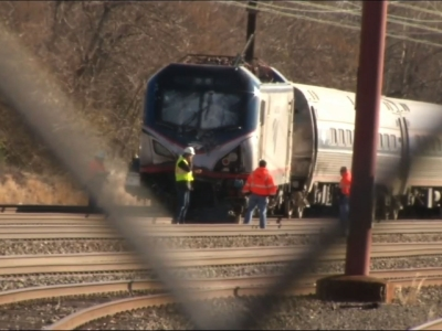 Amtrak service disrupted after train slams into backhoe