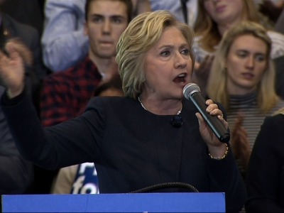Clinton: Differences Between Parties are 'Stark'