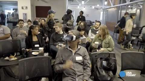 One VR diversity demo places the user in the body of an African-American woman as a white male avatar gets aggressive mere feet away.