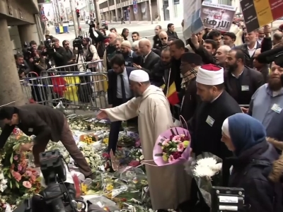 Raw: Muslims Honor Brussels Attacks Victims