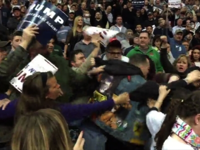 Fight breaks out at Albany, N.Y. Trump rally