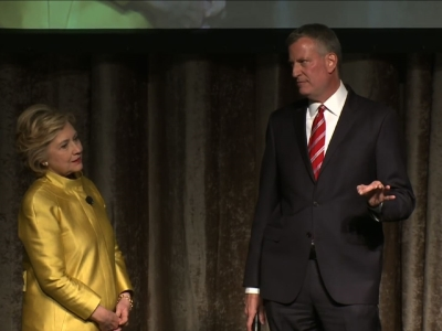 Clinton, de Blasio Perform Controversial Skit
