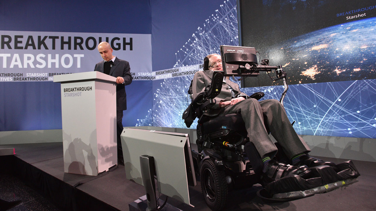 Hawking hopes to find them before they find us.