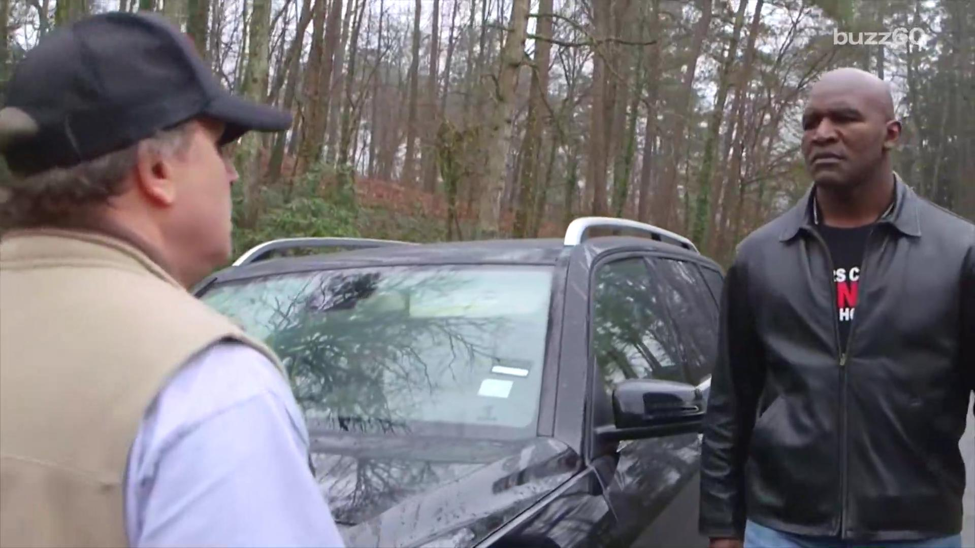 Evander Holyfield video hilariously shows dangers of road rage