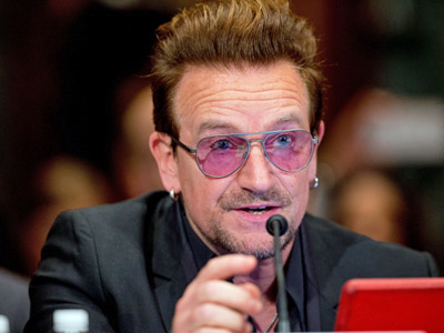 Bono is advocating belly laughs, not bombs, as a weapon against ISIL.