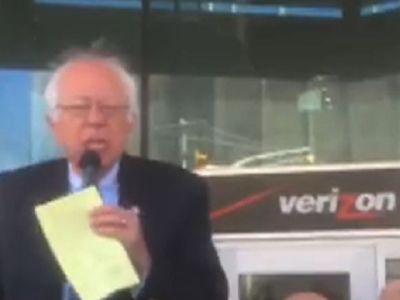 Sanders Stumps at Verizon Picket Line