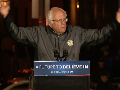 Sanders Rallies Thousands of Supporters in N.Y.