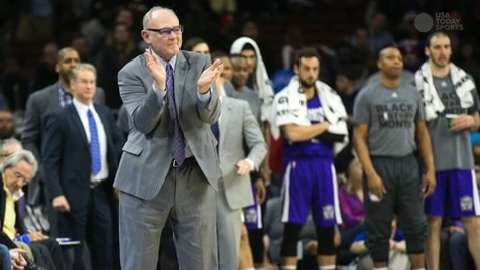 Recently fired Sacramento Kings coach George Karl is making a push to land the suddenly open coaching position at UNLV, USA TODAY Sports has learned.