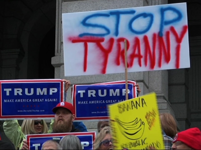 Trump supporters rally against Colorado GOP