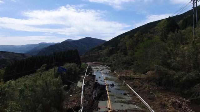 Drone captures devastation from Japan's twin quakes