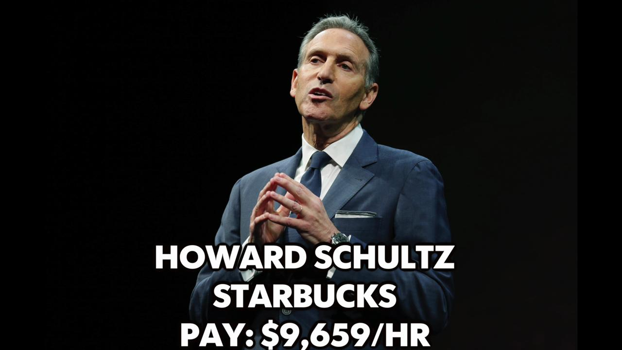 With talk of raising the minimum wage to $15 an hour now at the forefront of American politics, here is a list of four CEOs who make more than $9,000 an hour.