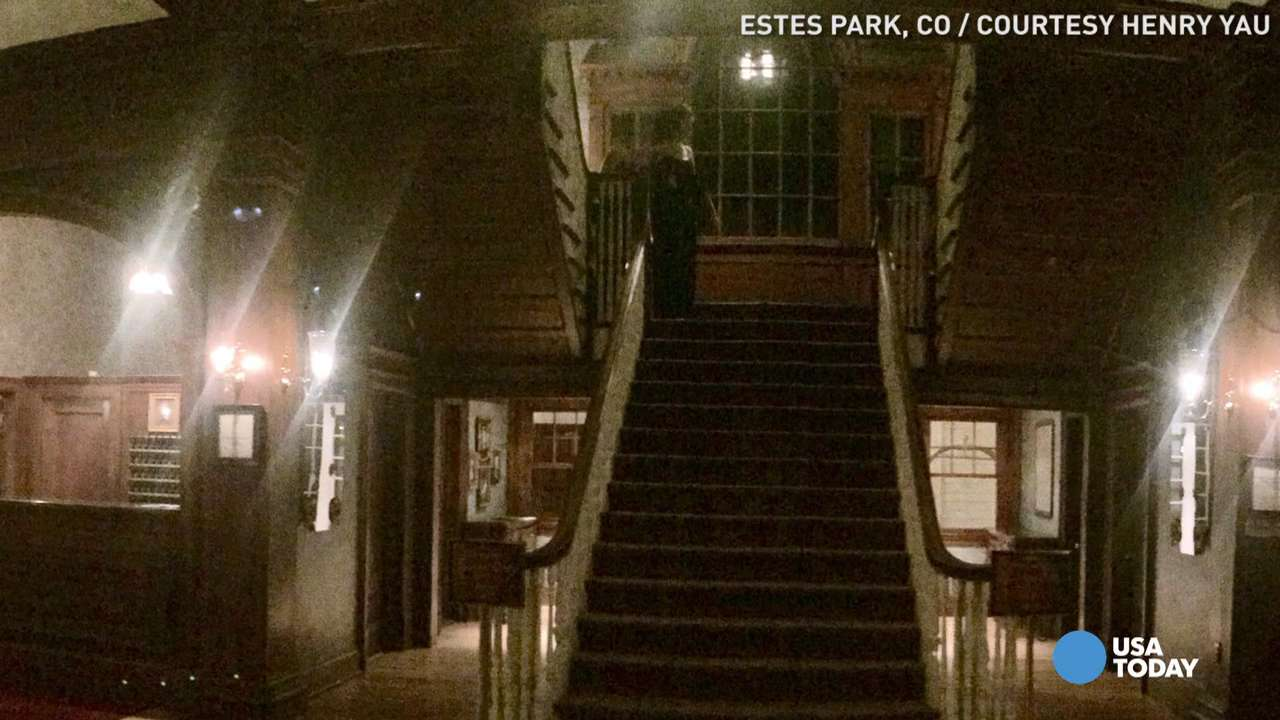 Ghostly figure appears at infamous 'Shining' hotel