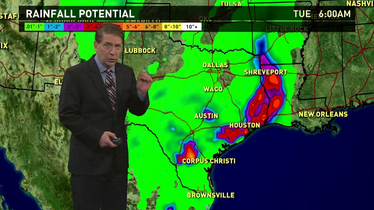 Houston could get more rain as storm heads East