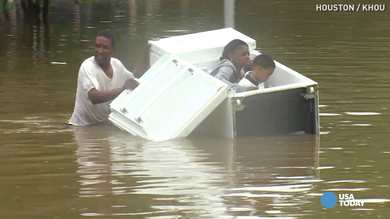 You won't believe how this family escaped floodwaters