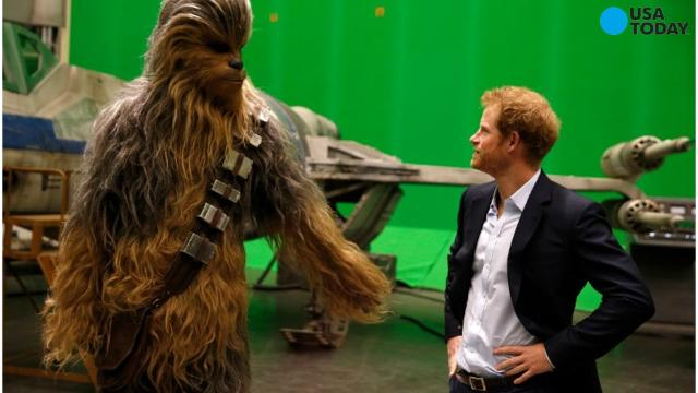 British Royals visit Star Wars: Episode VIII set