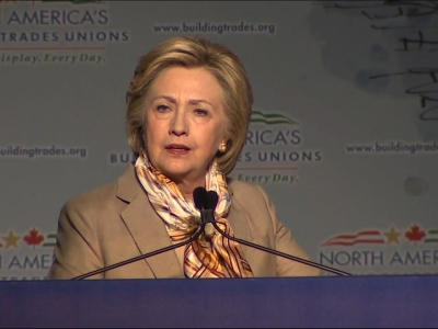 Clinton Appeals to Organized Labor in DC Speech