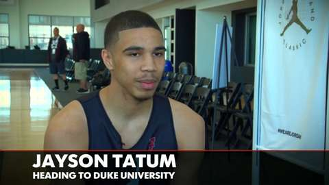 Jayson Tatum can't wait to play with Duke stars