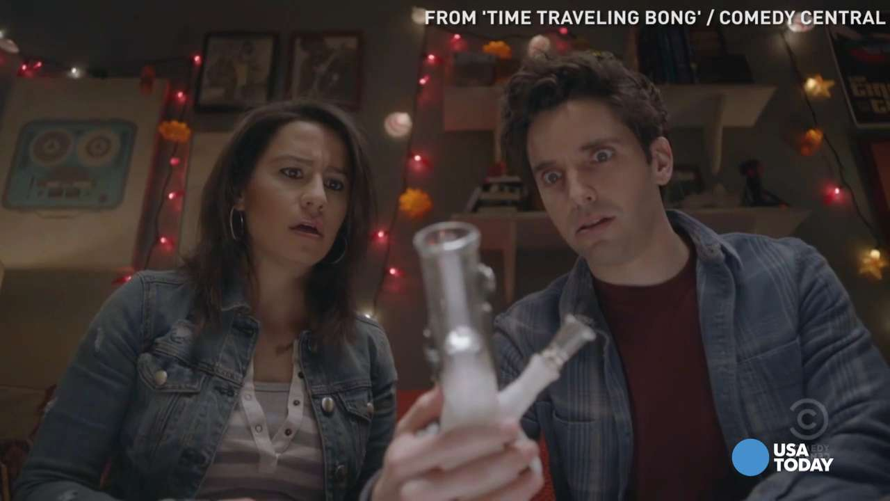 USA TODAY's Robert Bianco previews the latest creation from 'Broad City' star Ilana Glazer, 'Time Traveling Bong', which is exactly what it sounds like, for Wednesday, April 20.