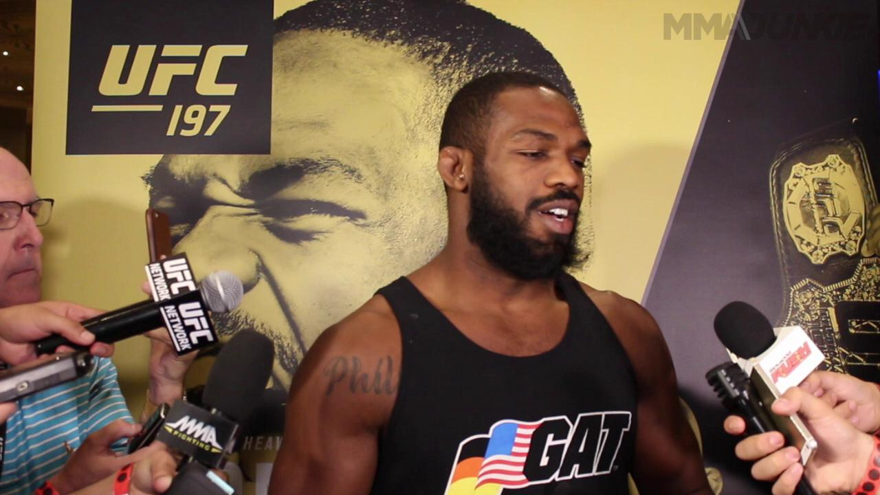 Jon Jones recounts redemption at UFC 197 open workouts