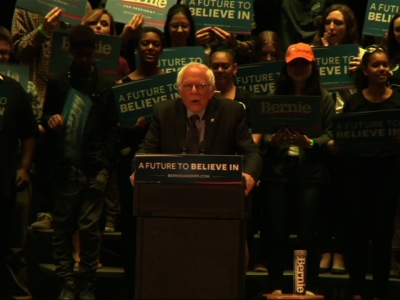 Sanders Campaigns in Pa. Ahead of Primary