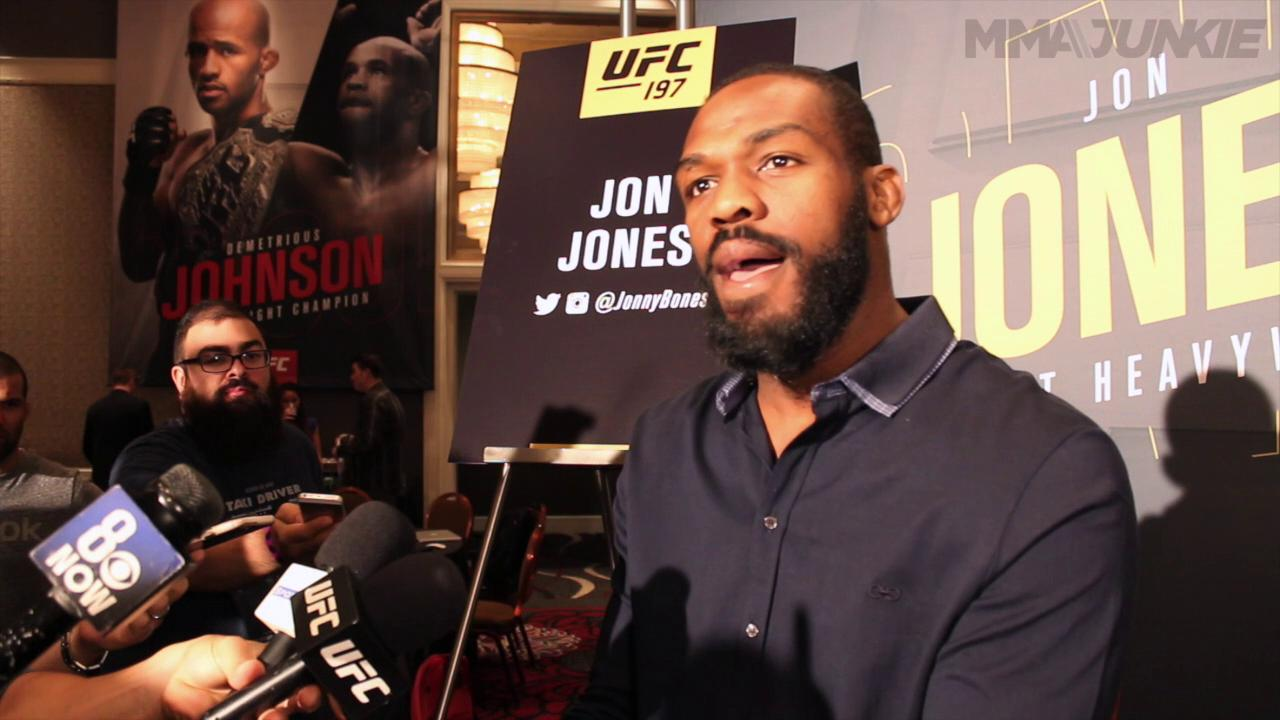 Jon Jones' full UFC 197 media day scrum