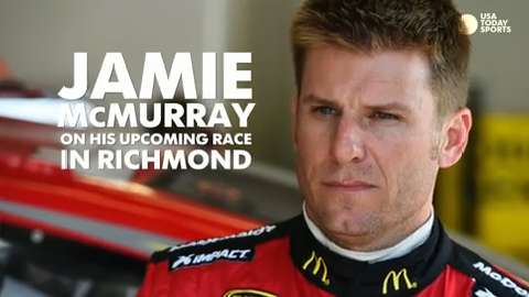 Jamie McMurray drives by for a chat