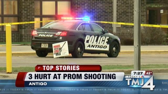 Suspect dead after shooting outside Wisconsin prom