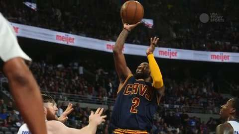 Led by Kyrie Irving's huge third quarter, Cleveland finished off the Pistons.