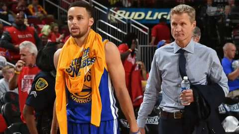 Golden State Warriors point guard will be re-evaluated in two weeks.
