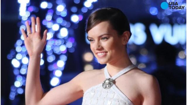 Daisy Ridley shows off her lightsaber skills