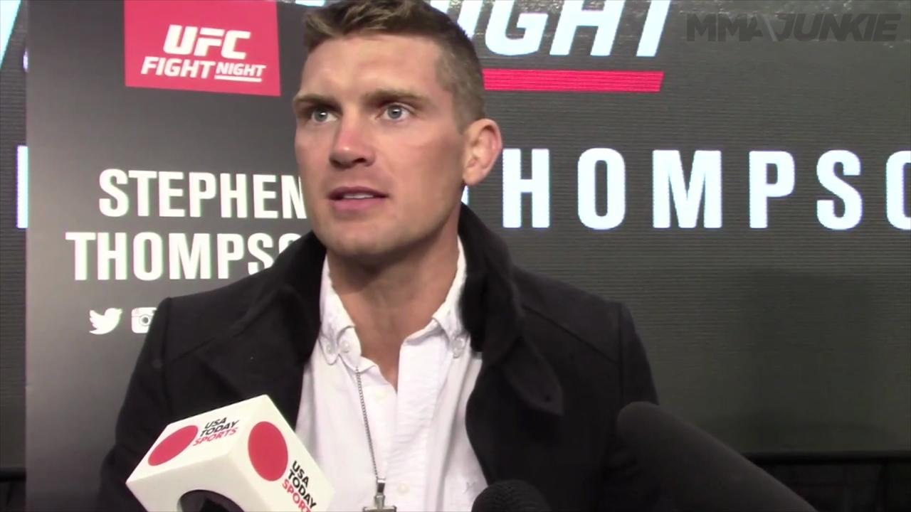 Stephen 'Wonderboy' Thompson says it's 'weird' fighting friend Rory MacDonald
