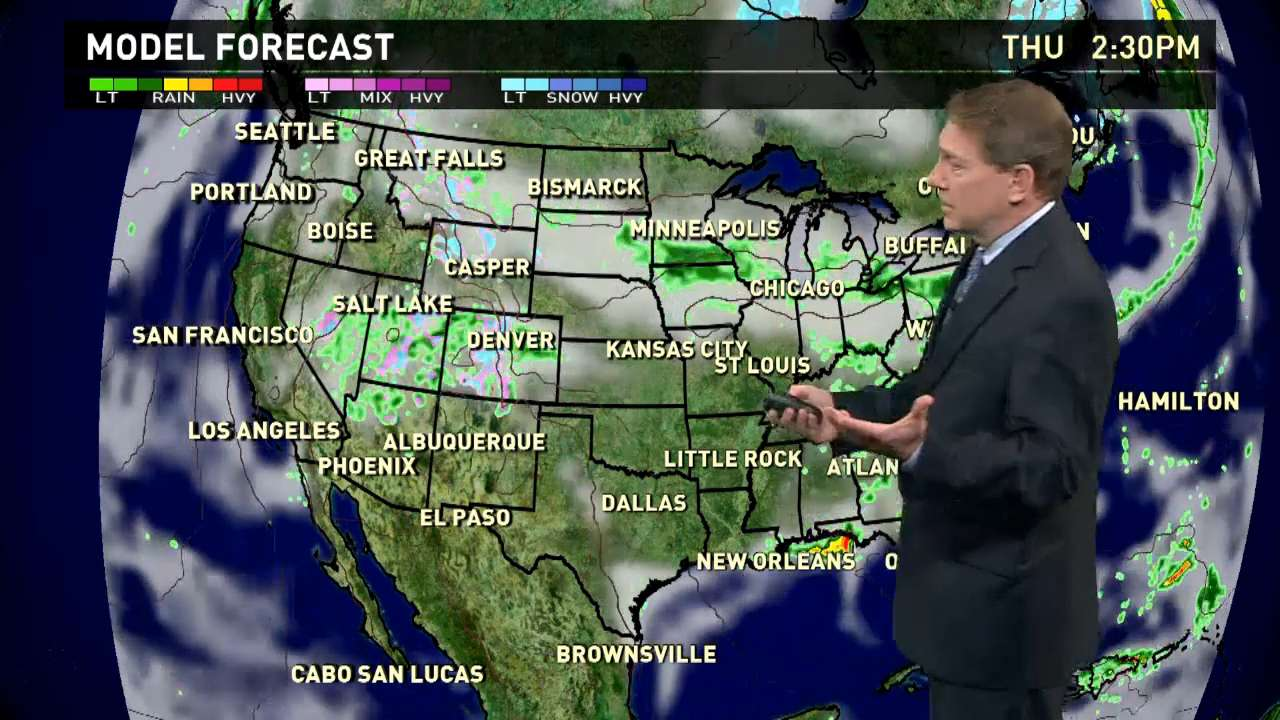 Thursday's forecast: Rain continues across U.S.