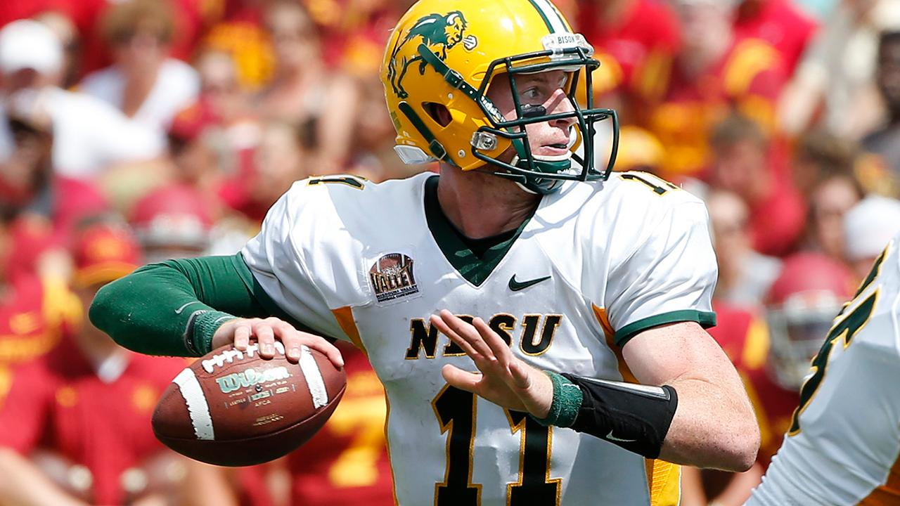 The Philadelphia Eagles drafted former North Dakota State Quarterback Carson Wentz with the No. 2 pick.
