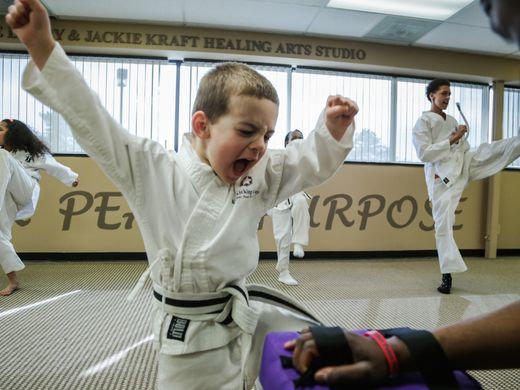 Welcome to Rabbi G's miracle center, better known as Kids Kicking Cancer. They teach martial arts for free to children who are battling cancer and other health challenges. Video shot by Salwan Georges with Detroit Free Press.