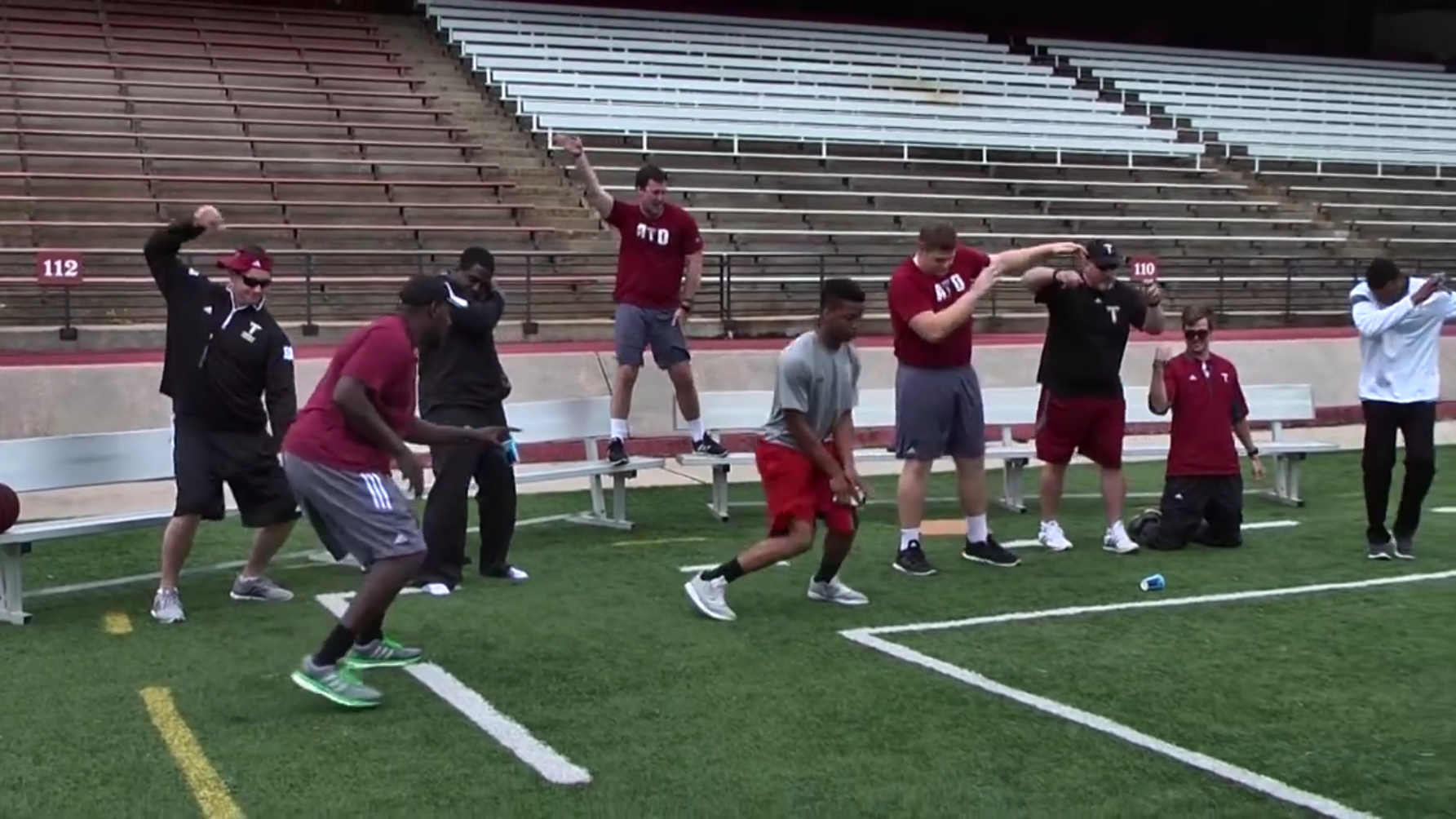 Troy Trojans coaching staff dances very awkwardly in video