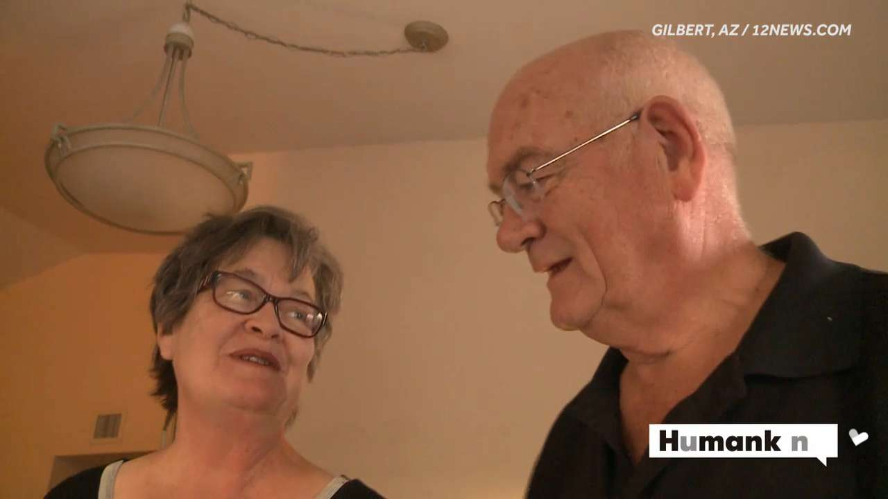 Perie and Floy Bigler were walking to the movies when Floyd suddenly stopped breathing. Now the couple is trying to find the woman who helped save Floyd's life.