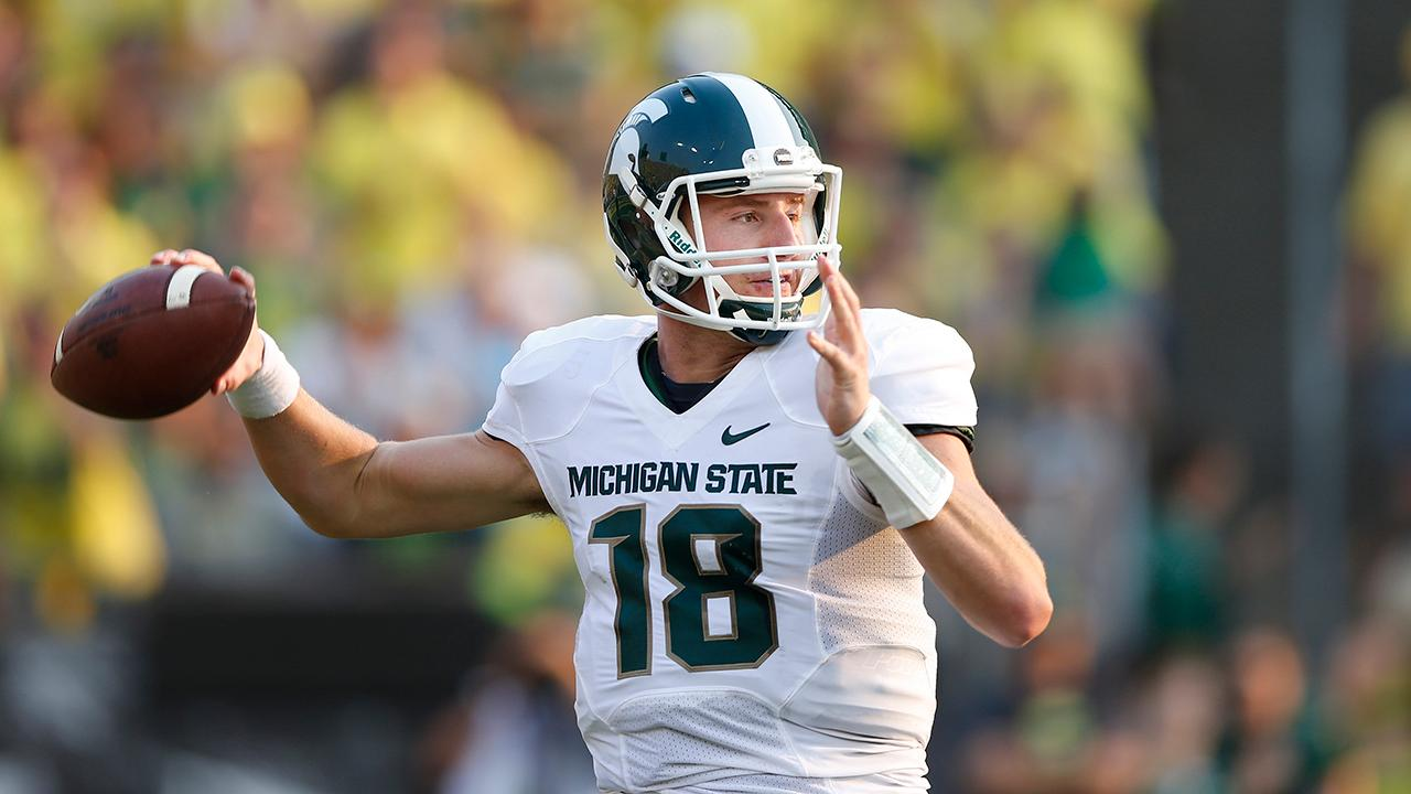 Connor Cook didn't have to wait long to hear his name called Saturday, as the Raiders drafted him with the second pick of the fourth round.
