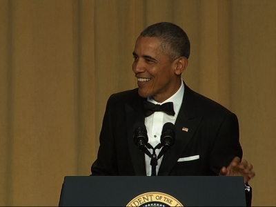 President Barack Obama didn't pull any punches at this year's White House Correspondents' Dinner. The president took on all the leading presidential candidates in his annual comic address. (April 30)