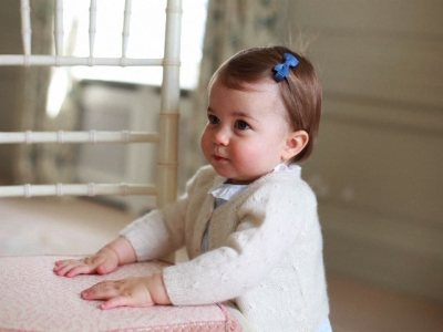 The palace released these four photos, taken by her mother Duchess Kate. (May 1)