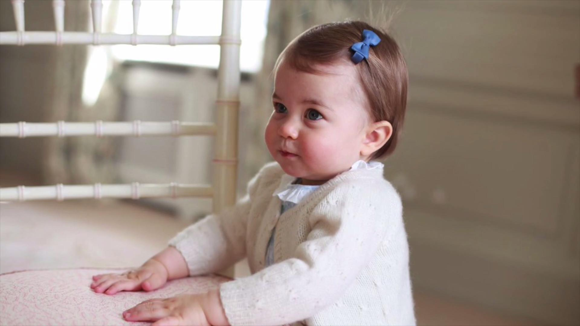 Royals release new photos for Princess Charlotte's first birthday
