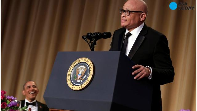 Comedian Larry Wilmore roasted President Obama at his last White House Correspondents' Dinner.