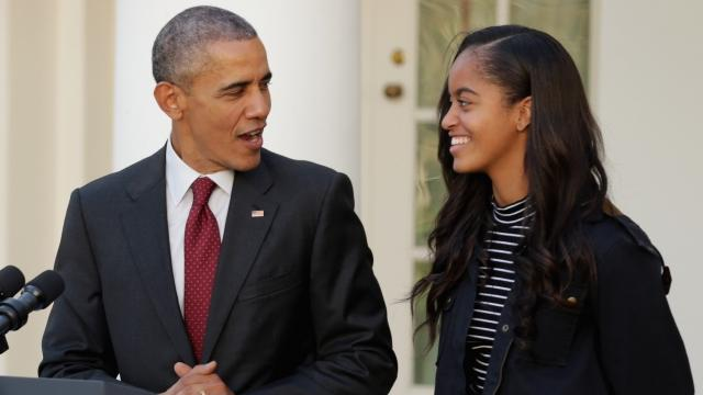 The White House announced Malia's pick for college Sunday but said she'd be taking a year off before attending. Video provided by Newsy
