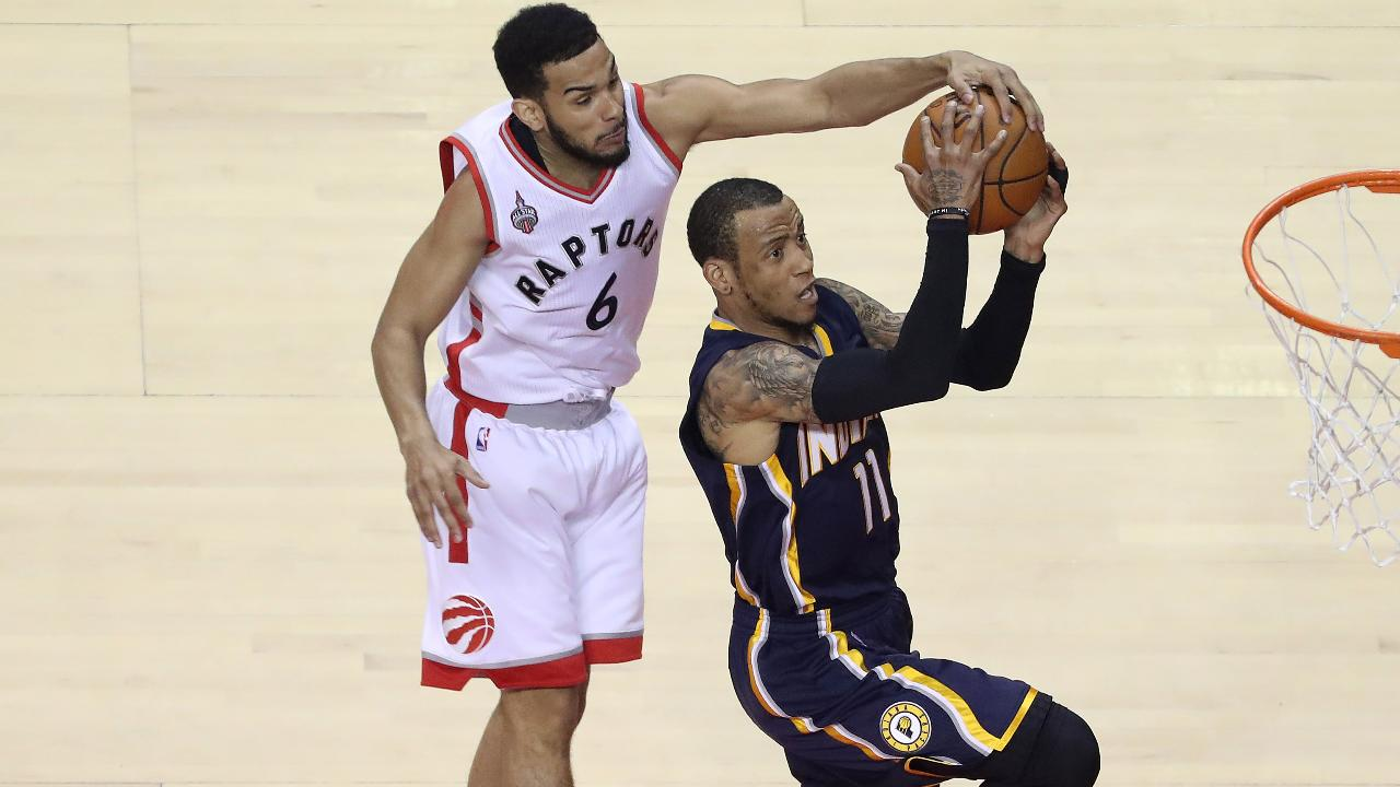 Toronto won their first playoff series since 2001 after outlasting the Pacers behind 30 points from DeMar DeRozan.
