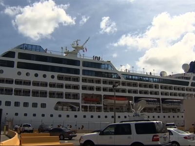The Carnival cruise ship left the port of Miami, heading to Havana, Cuba on Sunday. (May 2)