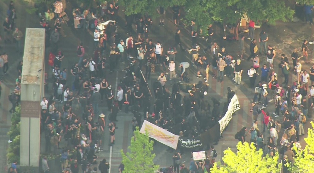 May Day protest turns into mayhem